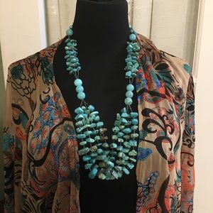 """Jewelry - 30"""" Multi-Strand Turquoise And Howlite Necklace"""